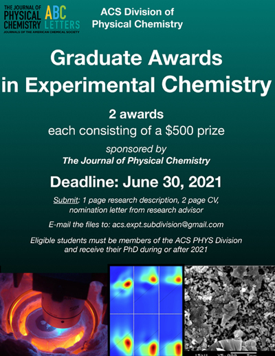 Graduate Awards in Experimental Chemistry