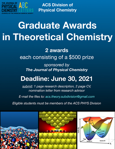Graduate Awards in Theoretical Chemistry